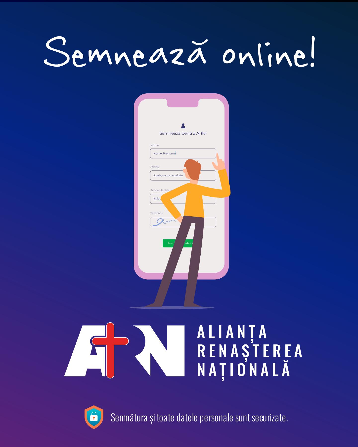 SEMNATURA SUSTINERE ALIANTA RENASTEREA NATIONALA PENTRU PARTICIPAREA LA ALEGERILE PARLAMENTARE DIN DECEMBRIE 2020